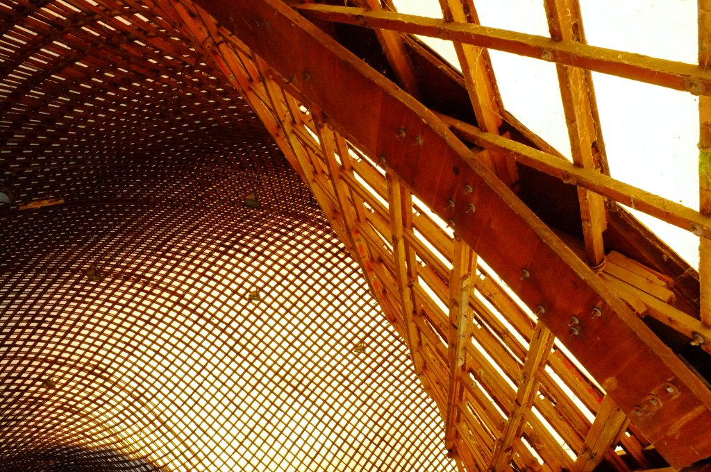 Detalle de la estructura de madera